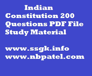 Indian Constitution 200 Questions PDF File Study Material