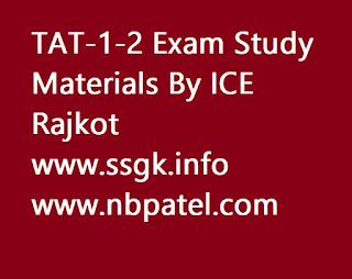 TAT-1-2 Exam Study Materials By ICE Rajkot