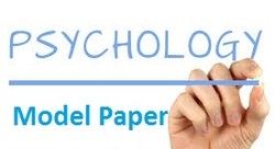 Psychology Model Paper-18-19 by Accurate Academy Rajkot