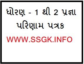 Std 1 And 2 Pragna Parinam Patrak (Excel File)