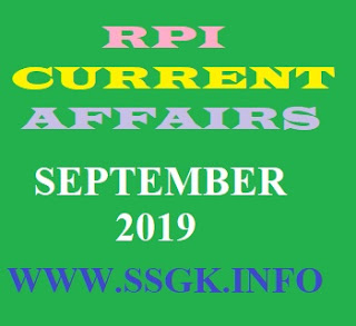 SEPTEMBER 2019 CURRENT AFFAIRS BY RANJIT SIR
