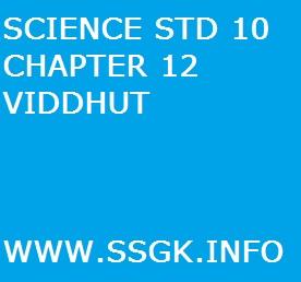 SCIENCE STD 10 CHAPTER 12 VIDDHUT