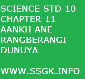 SCIENCE STD 10 CHAPTER 11 AANKH ANE RANGBERANGI DUNIYA