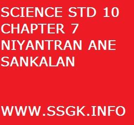 SCIENCE STD 10 CHAPTER 7 NIYANTRAN ANE SANKALAN
