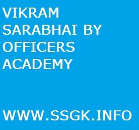 VIKRAM SARABHAI BY OFFICERS ACADEMY
